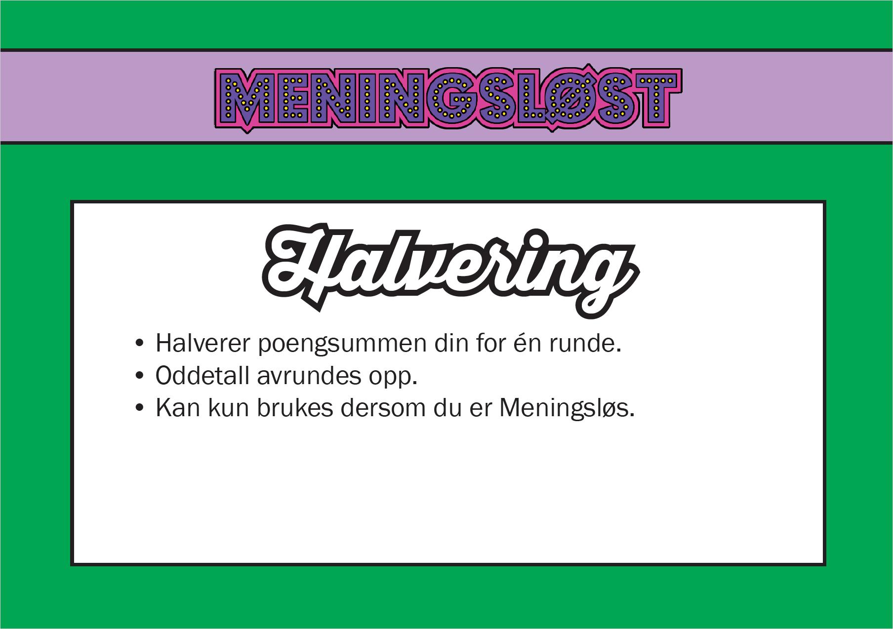Halvering